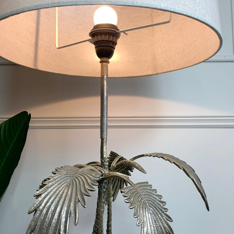 Valenti Stag Silver Table Lamp, 1970's For Sale 3