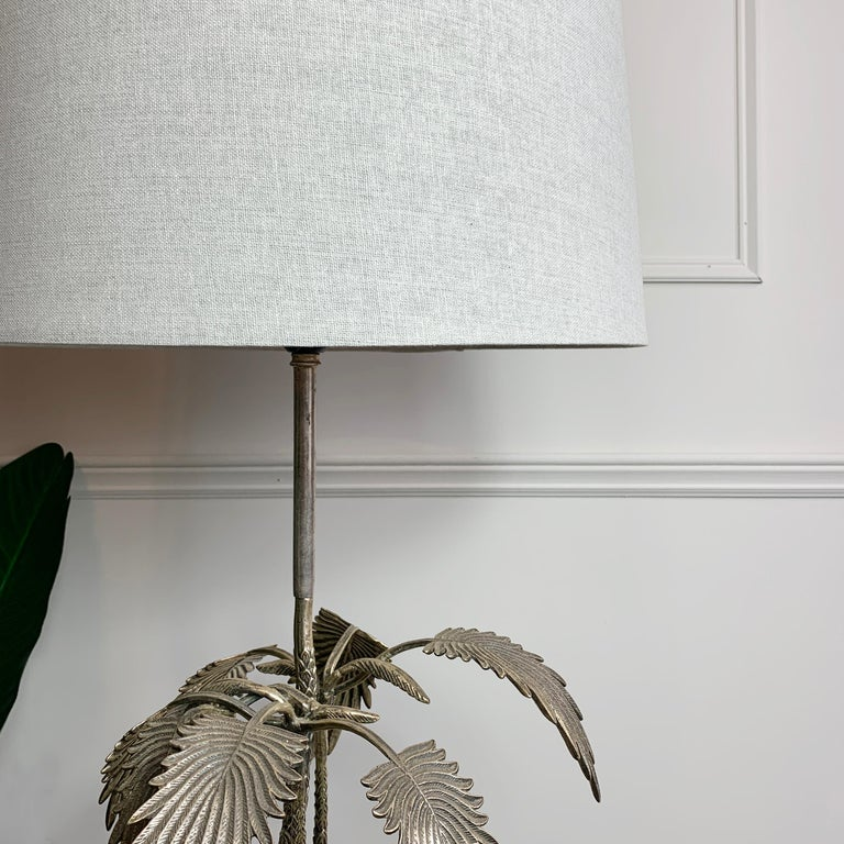 Valenti Stag Silver Table Lamp, 1970's For Sale 1