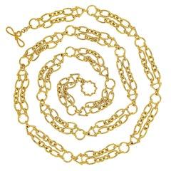 Valentin Magro 18 Karat Yellow Gold Double Chain Necklace
