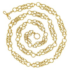 Valentin Magro 18 Karat Yellow Gold Double Chain Necklace