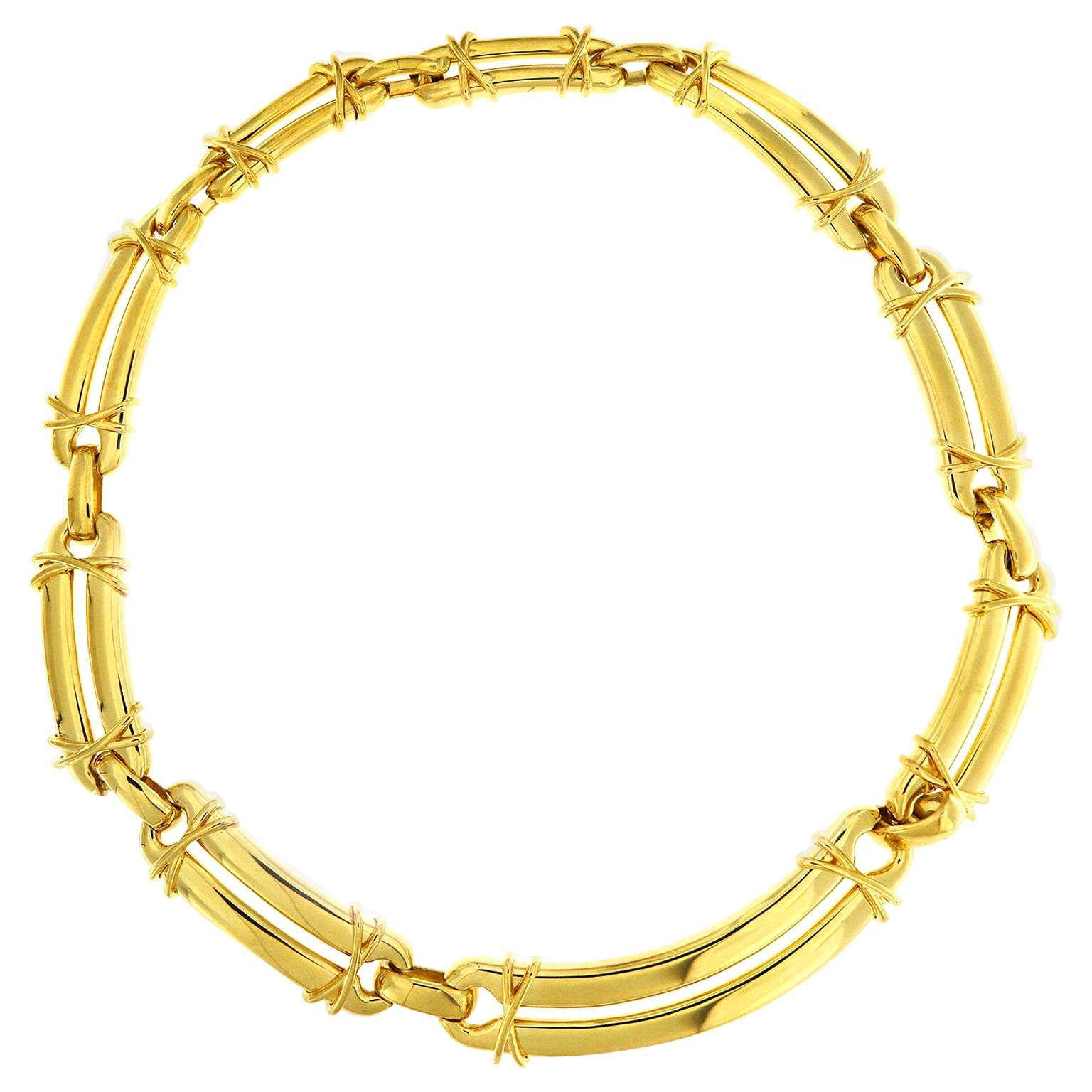 Valentin Magro 18 Karat Yellow Gold Link Choker Necklace