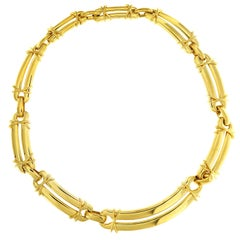 Valentin Magro 18 Karat Yellow Gold Link Choker Necklace
