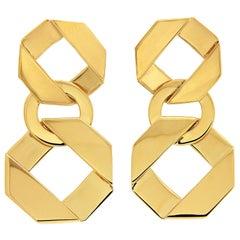 Valentin Magro 18 Karat Yellow Gold Link Drop Earrings