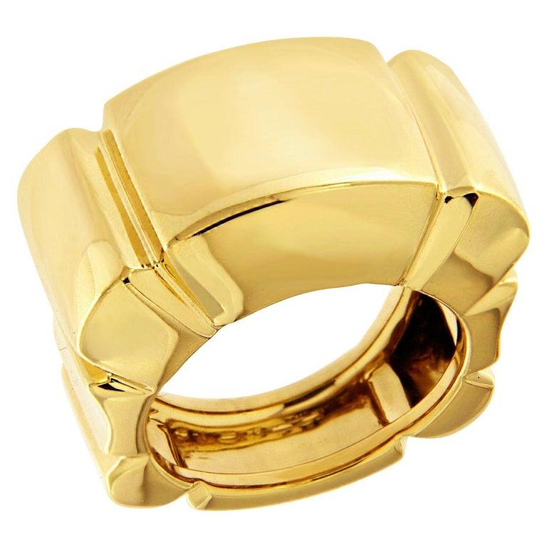 Valentin Magro 18 Karat Yellow Gold Shrimp Ring For Sale