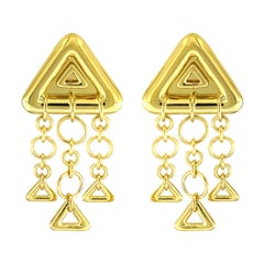 Valentin Magro 18 Karat Yellow Gold Triangular Earrings