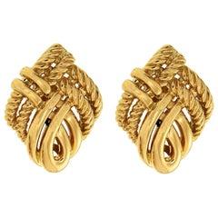 Valentin Magro 18 Karat Yellow Gold Twist Rope Earrings
