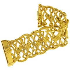 Valentin Magro 18 Karat Yellow Gold Twisted Bow Bracelet