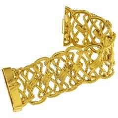 Valentin Magro 18 Karat Yellow Gold Twisted Bow Bracelet