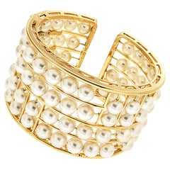 Valentin Magro Akoya Pearl Floating Cuff Bracelet