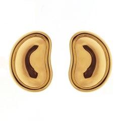 Valentin Magro All Gold Bean Earrings