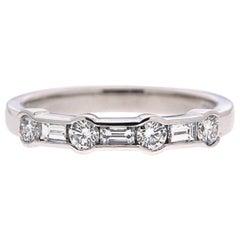 Valentin Magro Alternating Channel Set Diamond Ring in Platinum