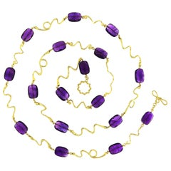 Valentin Magro Amethyst Wave Gold Necklace