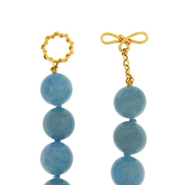 Valentin Magro Aquamarine Balls Necklace In New Condition For Sale In New York, NY