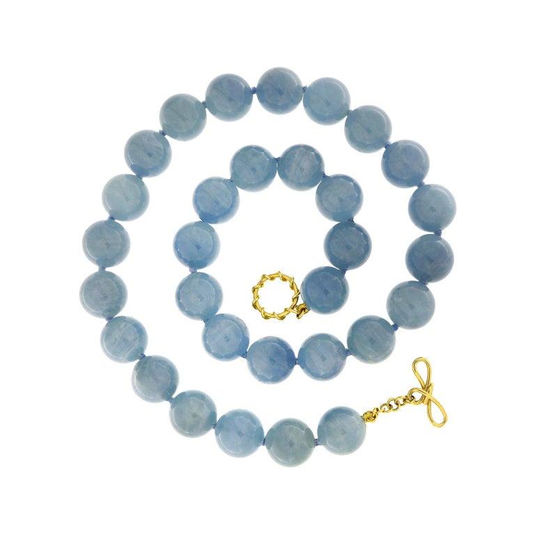 Valentin Magro Aquamarine Balls Necklace For Sale