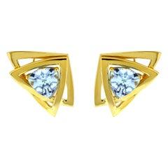 Valentin Magro Aquamarine Trillion Earrings