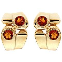 Valentin Magro Asymmetrical Yellow Gold Citrine Earrings