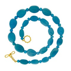 Valentin Magro Baroque and Rondelle Shaped Turquoise Necklace