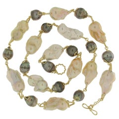 Valentin Magro Baroque Fresh Water and Tahitian Pearl Necklace