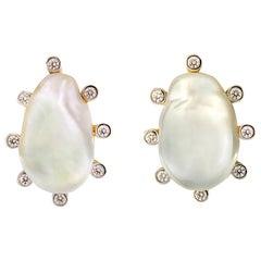 Valentin Magro Baroque Pearl and Diamond Studs