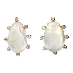 Valentin Magro Baroque Pearl and Diamond Studs