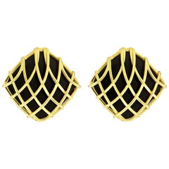 Valentin Magro Black Onyx Woven Cushion Earring