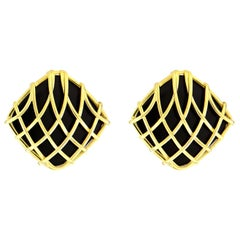 Valentin Magro Black Onyx Woven Cushion Earring