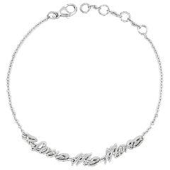 Valentin Magro Bracelet, I Love Me More, in 18 Karat White Gold