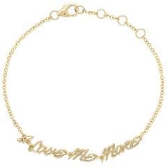 Valentin Magro Bracelet, I Love Me More, in 18 Karat Yellow Gold