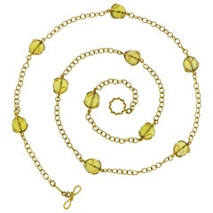 Valentin Magro Carina Citrine Faceted Ball Necklace