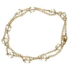 Valentin Magro Carina Crystal Ball Gold Necklace