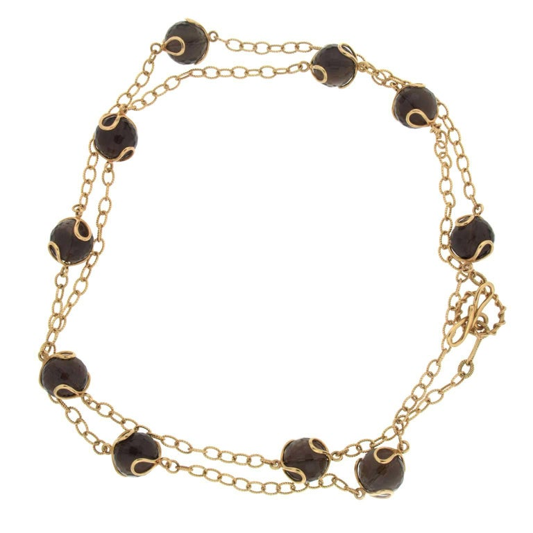Valentin Magro Carina Smokey Topaz Necklace
