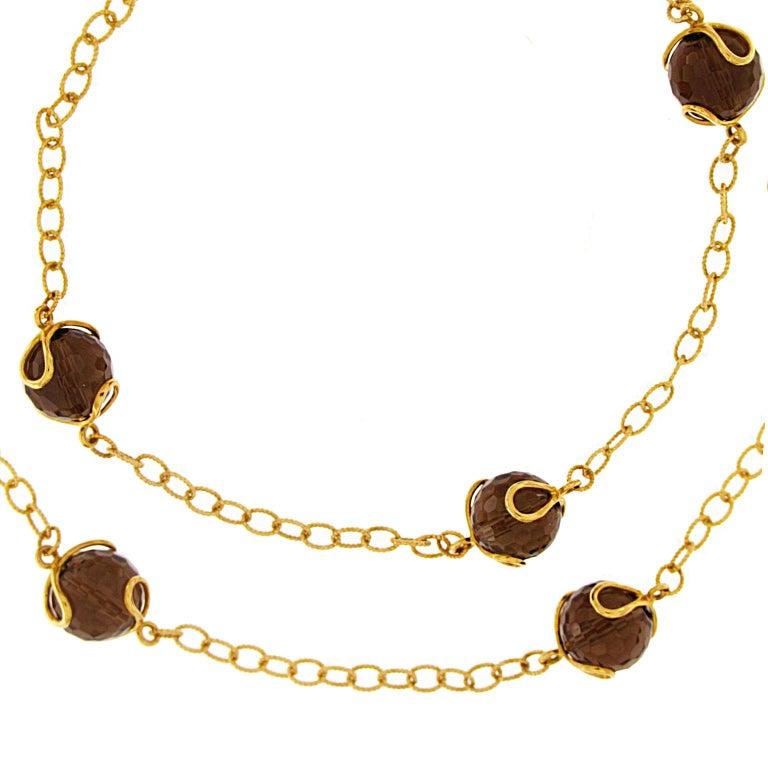 Women's Valentin Magro Carina Smoky Topaz Necklace For Sale