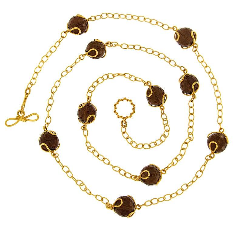 Valentin Magro Carina Smoky Topaz Necklace For Sale