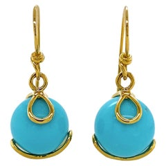 Valentin Magro 'Carina' Turquoise Drop Earrings