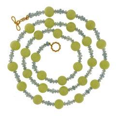 Valentin Magro Chrysoprase and Aquamarine Necklace