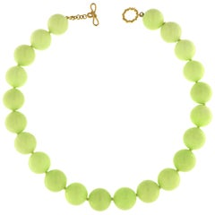 Valentin Magro Chrysoprase Balls Gold Necklace