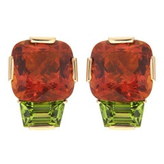 Valentin Magro Citrine Peridot Gold Earrings
