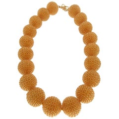 Valentin Magro Citrine Woven Bead Necklace