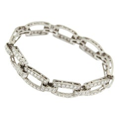 Valentin Magro Classic Cushion Link Diamond Bracelet in Platinum