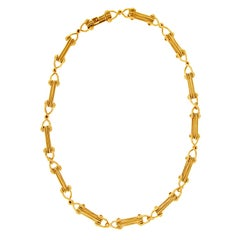 Valentin Magro Cleat Plain and Twisted Wires Gold Necklace