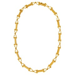 Valentin Magro Cleat Textured Gold Necklace