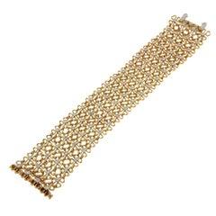 Valentin Magro Clover Wire Mesh Diamond Bracelet