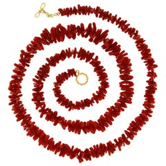 Valentin Magro Coral Branch 18 Karat Yellow Gold Necklace