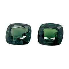 Valentin Magro Cushion Cut Green Sapphires