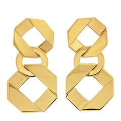Valentin Magro Cushion Fold over Links Earrings