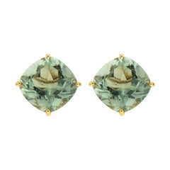 Valentin Magro Cushion Green Amethyst Prasiolite Earrings