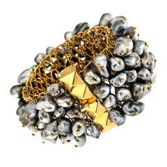 Valentin Magro Dangling Keshi Pearl Bracelet