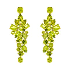 Valentin Magro Peridot 18 Karat Yellow Gold Dangling Earrings