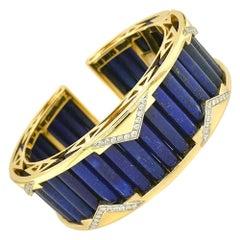 Valentin Magro Deco Lapis Lazuli and Gold Bracelet