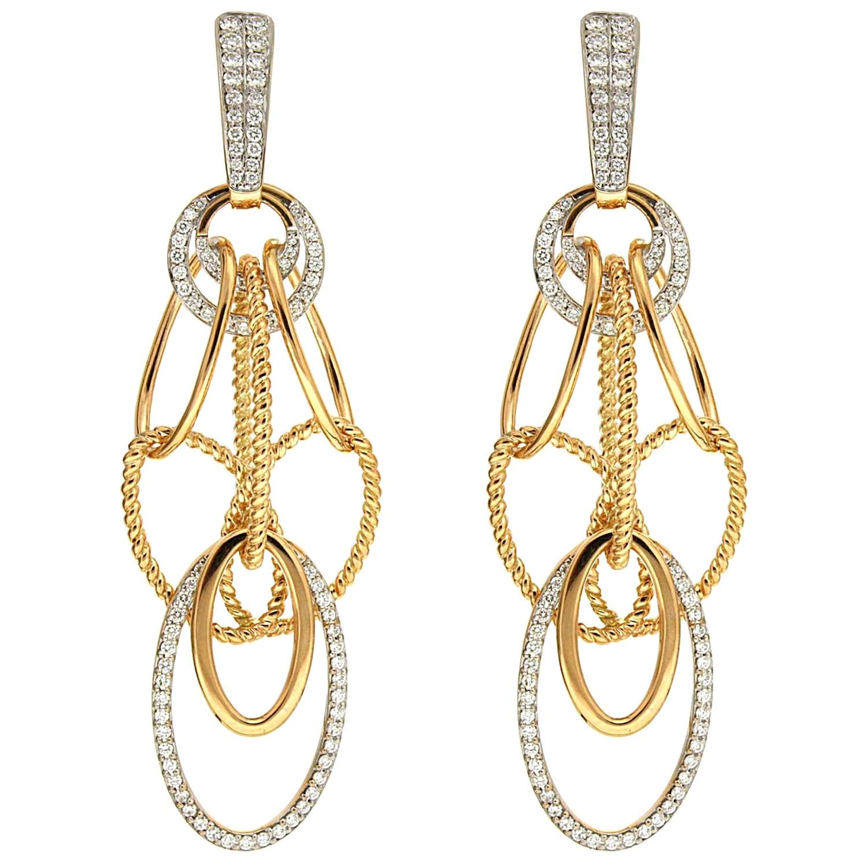 Valentin Magro Diamond 18 Karat Gold Cascade Earrings
